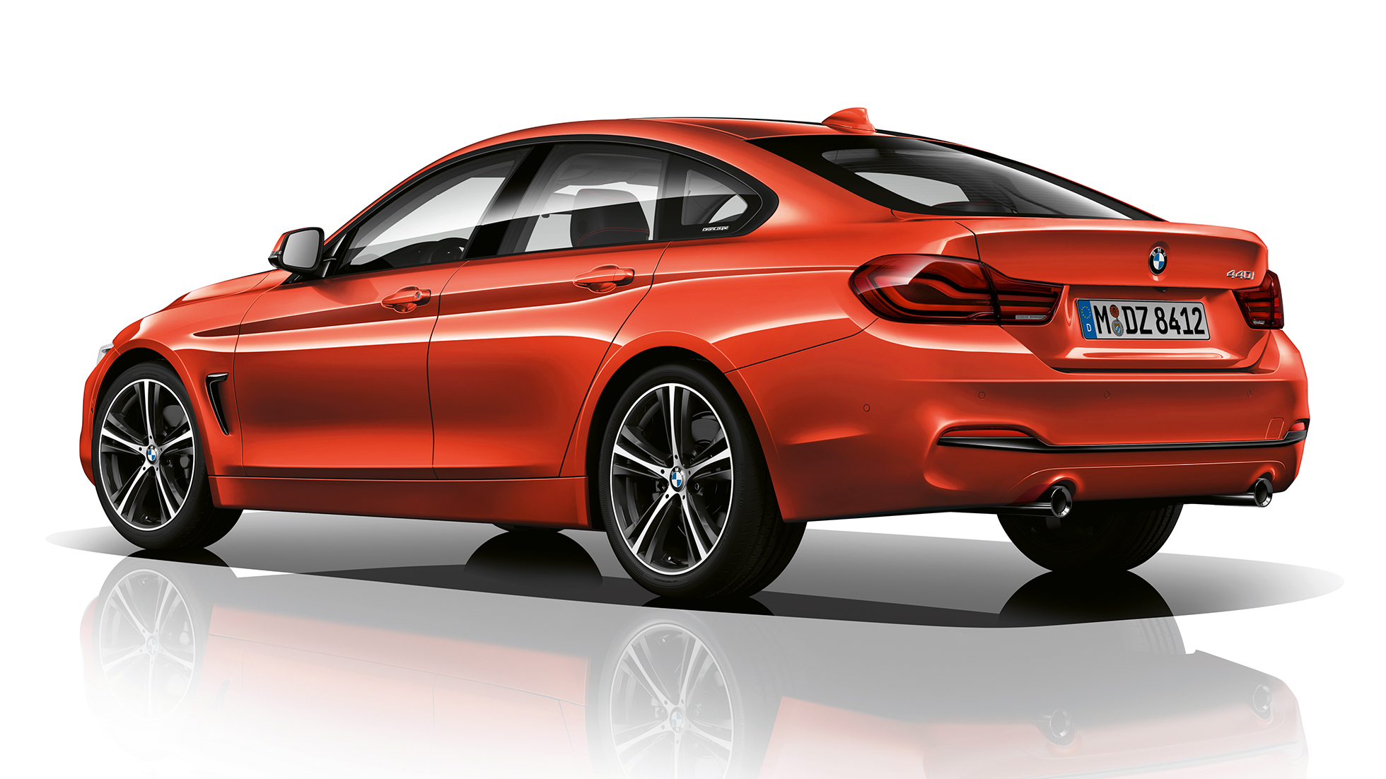 BMW 4 Series Gran Coupé, Model Sport Line three-quarter rear shot