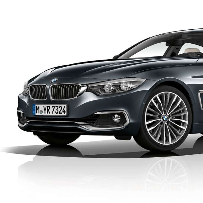 BMW 4 Series Gran Coupé, Model Luxury Line three-quarter front shot